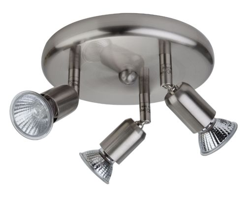 Firstlight 7004BS Brushed Steel Runner 3 Light Flush